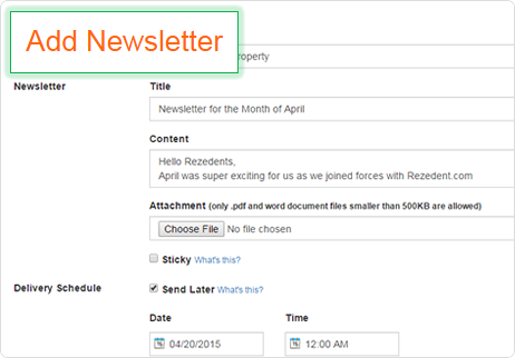 Send Online Newsletter